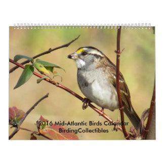 2016 Mid-Atlantic Bird Photos Calendar