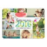 2016 Mod New Year Photo Collage Holiday Card