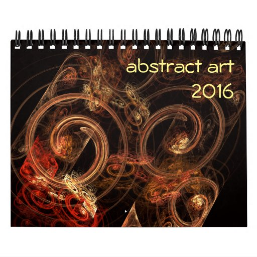Calendar Abstract Art : Modern abstract art calendar zazzle