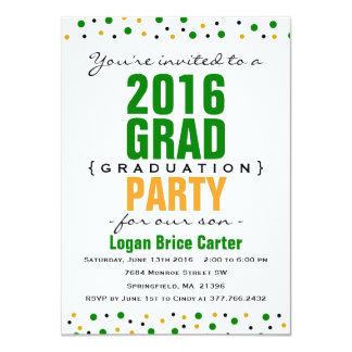 2016 Modern Graduation Party Invitation - Green