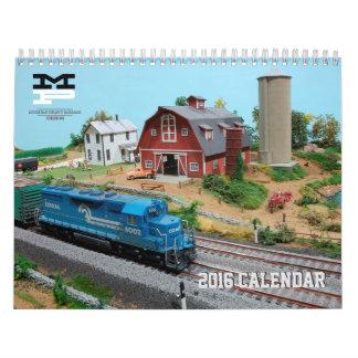 2016 Mohegan Pequot Model Railroad Club Calendar