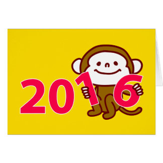 2016 Monkey New year card