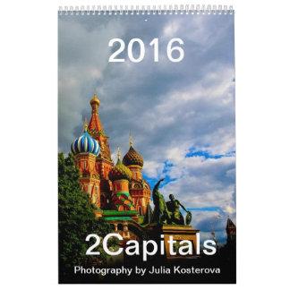 2016 Moscow & St. Petersburg Vertical Calendar