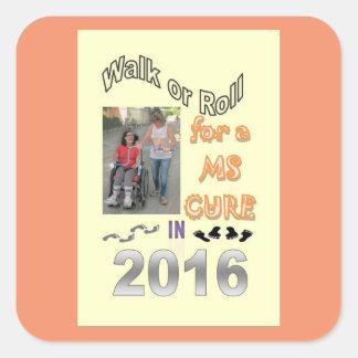 2016 MS Walk Square Sticker