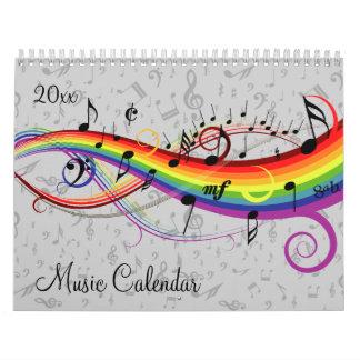 2016 música elegante y notas musicales calendarios