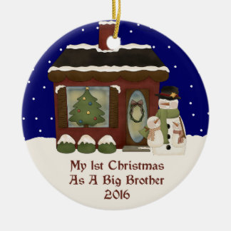 2016 My 1st Christmas As A Big Brother Ceramic Ornament