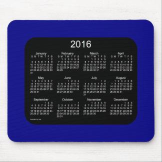 2016 Navy Blue Calendar by Janz Mousepad