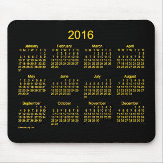 2016 Neon Gold Calendar by Janz Mouse Pad