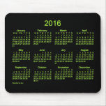 2016 Neon Green Calendar by Janz Mouse Pad