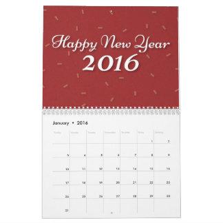 2016 new year celebration calendar
