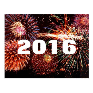 2016 New Year Fireworks Postcard
