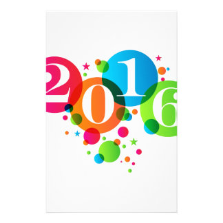 2016 New Years Bubbles and Stars Stationery