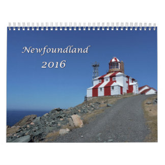 2016 Newfoundland Calendar