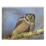 2016 North American Owl Wall Calendar