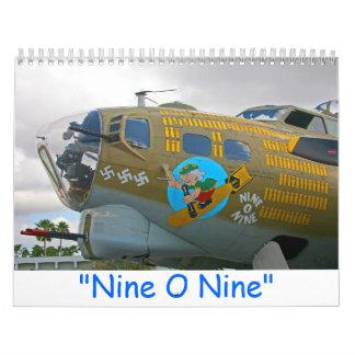2016 nueve calendario de O nueve