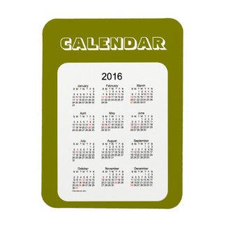 2016 Olive Calendar by Janz 3x4 Magnet