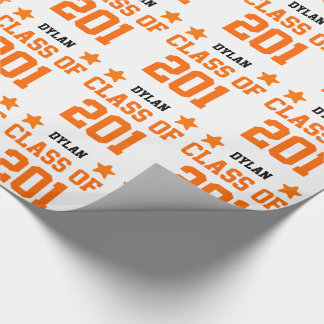 2016 or Any Year Class Of New Grad with Stars V17Z Wrapping Paper