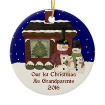 2016 Our 1st Christmas As Grandparents Ceramic Ornament