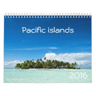 2016 Pacific islands calendar