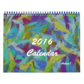 2016 página del estándar dos del arte abstracto calendario de pared