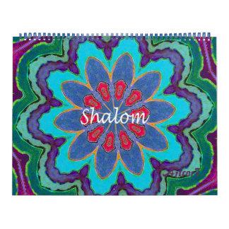 2016 página enorme de la mandala de Shalom del Calendarios De Pared