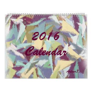2016 página enorme en colores pastel del arte calendarios de pared