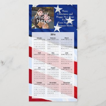 2016 Patriotic Photo Christmas Card Calendar