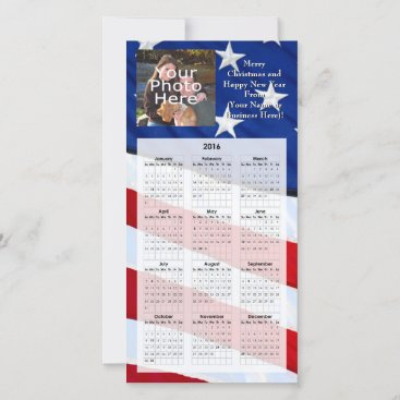2016 Patriotic Photo Christmas Card Calendar