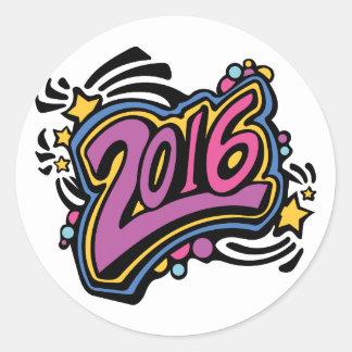 2016 PEGATINA REDONDA