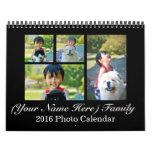2016 Personalized Custom Photo Collage Calendar