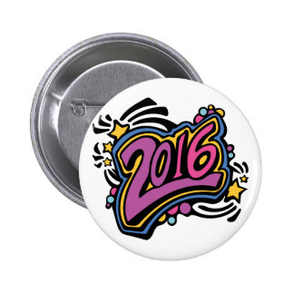 2016 PIN REDONDO DE 2 PULGADAS