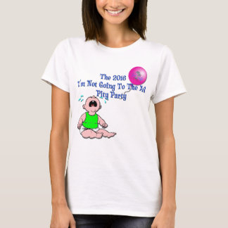2016 Pity Party Ladies' Tee, Blue Letter T-Shirt