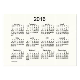 2016 Pocket Calendar Business Card Template