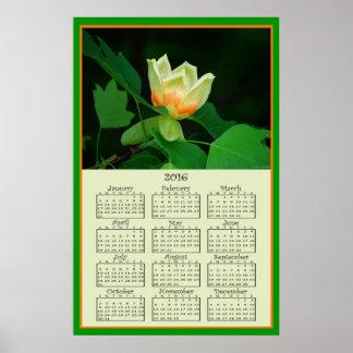 2016 Poplar Tulip Calendar Poster