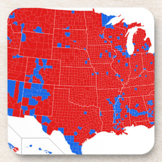 2016 Presidential Election - County Level Results Coaster