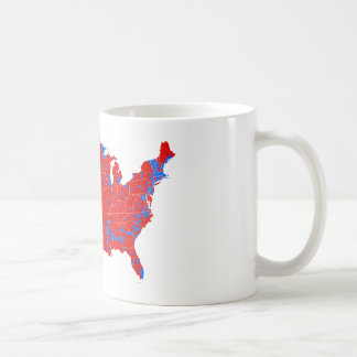 2016 Presidential Election - County Level Results Coffee Mug
