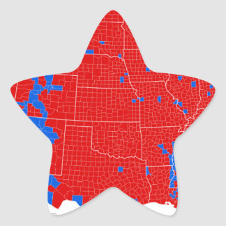 2016 Presidential Election - County Level Results Star Sticker