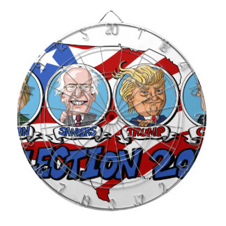 2016 Presidential Election Dartboard With Darts