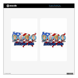 2016 Presidential Election Decal For Kindle Fire