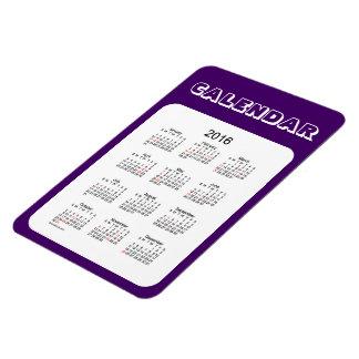 2016 Purple Calendar by Janz 4x6 Magnet
