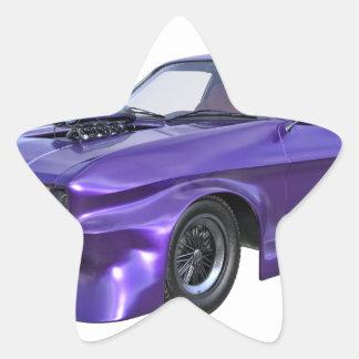 2016 Purple Muscle Car Star Sticker