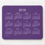 2016 Purple Neon Calendar by Janz Mousepad