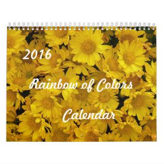2016 Rainbow of Colors Calendar