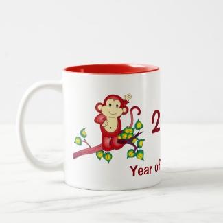 2016 Red Year of the Monkey Chinese New Year Mug