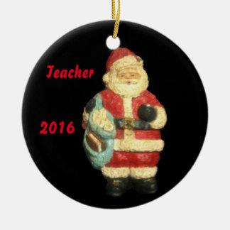 2016 SANTA WITH MAPS  TEACHER CHRISTMAS  ORNAMENT