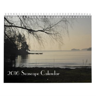 2016 Seascape Calendar, photos from Sweden Calendar