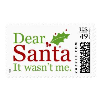 2016 sellos del navidad {letras a Santa}