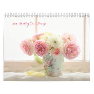 2016 shabby chic flowers calendar