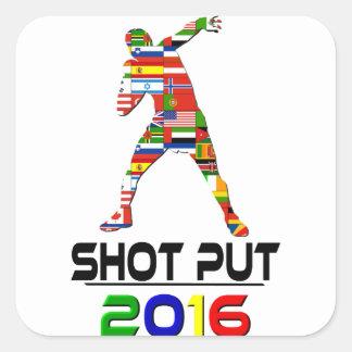 2016:Shot Put Square Sticker