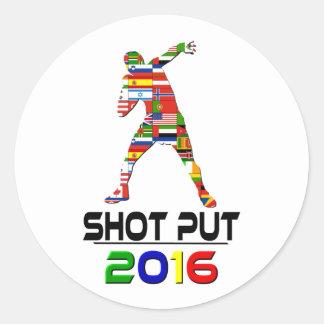 2016: Shotput Pegatina Redonda